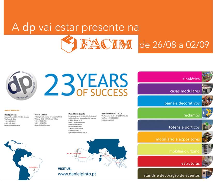 A DP Daniel Pinto S.A. marca presença na FACIM 2012